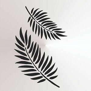 Fern Palm Leaf Reusable Mylar Stencil A3 A4 A5 Wall Decor Nature flora Leaves3