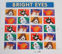 USA Scott 3230-34 (3234a) Bright Eyes - Mint Sheet of 20 32c Stamps