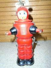 Antique Toy Tin Wind-Up Robot-Japan-Works-Rare 7 in. tall