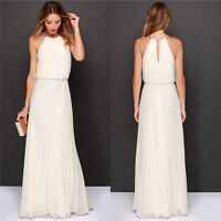Women Long Elegant Evening Party Ball Prom Gown Formal Bridesmaid Cocktail Dress