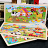 96 Pieces Zoo Animals Wooden Colorful Jigsaw Puzzle Educational Toy Gift For Kid