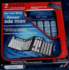 Ideazon / SteelSeries Zboard discreet - 3ds max Keyset Interface - BRAND NEW