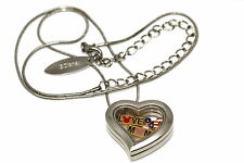 DISNEY HEART LOCKET SILVER NECKLACE FLOATING MOTHERS DAY MICKEY MOUSE CHARM