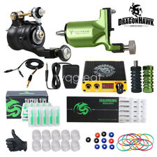 Dragonhawk Tattoo Kit 2 Rotary Tattoo Machine Power Supply for Tattoo Artists