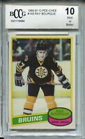 1980 OPC Hockey 140 Ray Bourque Rookie Card RC Beckett Graded BCCG 10 O-Pee-Chee
