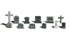 Woodland Scenics A2164 Tombstones / Graveyard Detailing Pack (Pk11 Assorted) N