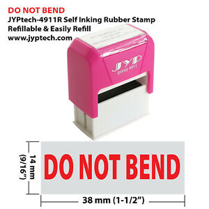Do Not Bend - JYP 4911R Self Inking Rubber Stamp (Red Ink)