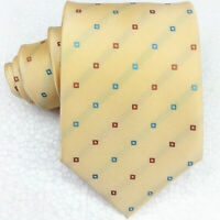Cravatta uomo seta giallo pesca Jacquard  Made in Italy business / matrimoni