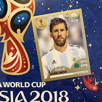 Lionel Messi Panini # 288 Russia 2018 Swiss Gold Edition Sticker Rare Argentina
