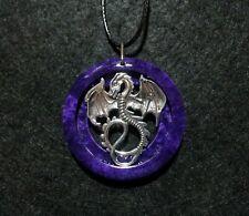 Dragon Pendant, unisex jewelry, mythological, fantasy, dragon totem, purple