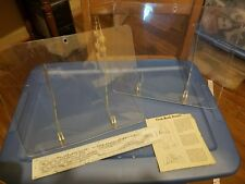 Lot of 2 Cookbook Stand Holder Book rest art display, music, etc clear plastic