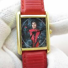 MICHAEL JACKSON,Thriller, Small Square RARE! UNISEX/Kids CHARACTER WATCH,M-51
