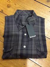Boxfresh Short Sleeve Check Shirt/Graphite - Small