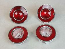 NEW 1975-79 C3 Corvette Tail Light Lens Set GM Licensed Brake Turn Back UP Lamp
