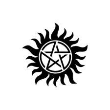 Anti-Posession Symbol - Supernatural Vinyl Decal -Multiple Colors Laptop Macbook