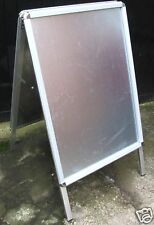 A2 Aboard / pavement sign with Snap Frame poster holder