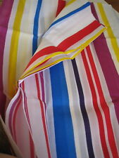BRIGHT STRIPES WHITE BLUE RED FABRIC SHOWER CURTAIN NEW