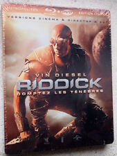 Riddick blu ray Steelbook - 2 disc set ( NEW ) English Audio