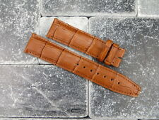 20mm Grain Leather Strap Watch Band IWC Portuguese PILOT L Honey Brown