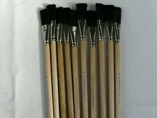 """LOT OF 10 Vintage Grumbacher 4840  3/4""""  Watercolor Brush Synthetic Bristles"""