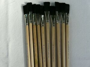 "LOT OF 10 Vintage Grumbacher 4840  3/4""  Watercolor Brush Synthetic Bristles"