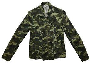 Charlotte Russe camouflage Jacket Coat Size M Long Sleeve Vintage Top