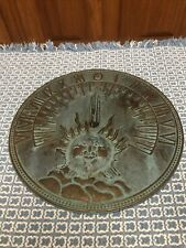 Vintage Painted Brass Sundial With Sun The Gracious Garden Andrea by Sadek 8""