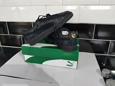 Puma Suede Women Trainer Remaster Low-Top Sneakers Lace up Leather Black New