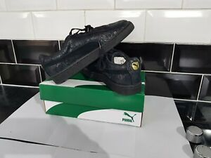 Puma Suede Women Trainer Remaster Low-Top Sneakers Lace up Leather Black Size 6