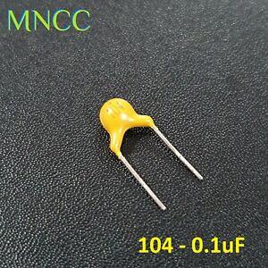 MLCC Multilayer Ceramic Capacitors 0.1uF (104) 20% 50V Monolithic Non Polarized