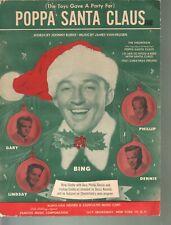 Poppa Santa Claus 1950 Bing Crosby Christmas Sheet Music