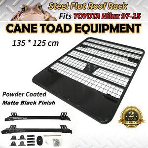 Roof Rack Fits TOYOTA Hilux 97-15 Ute Powder Coated Steel 4wd Luggage Basket Car