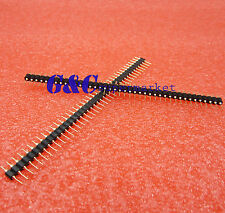 Single Row 40Pin 2.54mm Round Male Pin Header gold plated machined J8