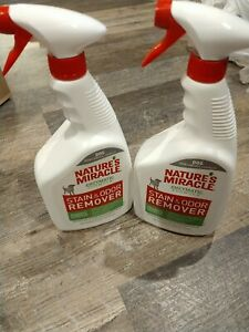 Nature's Miracle Stain and Odor Remover Spray- 2 Pack) (32 oz ea)