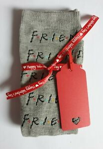 Women's/Girl's Friends The Series Grey Socks With Happy Valentine Ribbon &Tag!