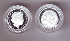 2007 SILVER Proof 5 Cent Echidna Ant Eater Australia out of Fine Silver Set