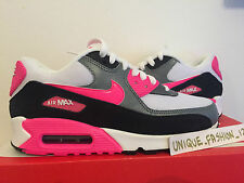 WMNS NIKE AIR MAX 90 ESSENTIAL WHITE HYPER PINK GREY US 7 UK 4.5 38 LIBERTY 1