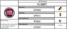 KIT TAGLIANDO 4 FILTRI FIAT GRANDE PUNTO/PUNTO EVO 1.3 MULTIJET (75HP)EURO4 UFI