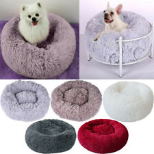 Pet Dog Cat Calming Bed Round Nest Warm Soft Plush Sleeping Bag Comfy Flufy