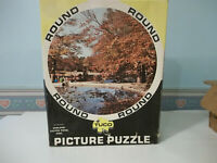 Keston Pond Kent England Picture Puzzle Beautiful Tuco Jigsaw ! Complete, Round