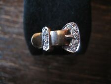 Metall Design der Schnalle Gürtelring Ring mit Kettenkreuz Öffnen Einstellbar
