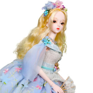 60cm BJD Doll 1/3 Ball Jointed Girl Clothes Shoes Changeable Full Set Xmas Gift