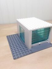 LEGO® City Car garage White Blue Transparent Rollers 16x16 gray street plate