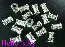 200 Pcs Tibetan silver ornate barrel spacer beads A292