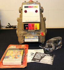 VINTAGE 1970'S TYPE 2  MEGO TOY 2-XL TALKING ROBOT WITH TWO 8 TRACK TAPES WORKS