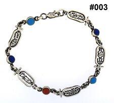 Hall marked Egyptian Pharaoh Silver Bracelet, 800,Cartouche with Lapis,Turquoise