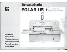 Polar 115 CE parts manual (114)