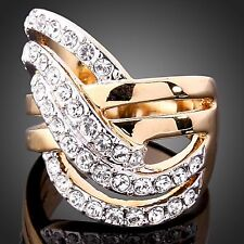 JEWELRY ~ RING  Rose Gold Plated Clear Cubic Zirconia (Retail 105.00)  Size 8