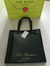 TED BAKER Ladies Large Black PVC Iconic Tote Shopper Bag :Valentines Gift : New