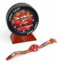NEW IN BOX DISNEY CARS 2 KIDS LCD WATCH WITH TYRE ALARM SET 'GREAT GIFT IDEA'